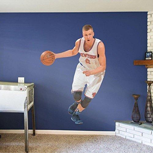 FATHEAD Kristaps Porzingis New York Knicks Official NBA Vinyl Wall Graphic Life-Size, Over 6' Feet Tall by FATHEAD
