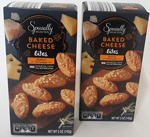 Specially Selected BAKED CHEESE Bites Quattro Formaggi - 5oz (2 Pack) Imported from The Netherlands