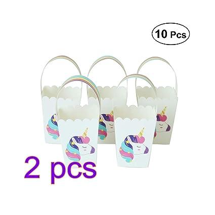 Toyvian - Bolsas de regalo con unicornio arcoíris para ...