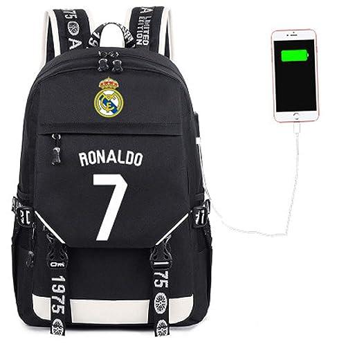 SJYMKYC Mochila De Fútbol Escolar Messi Ronaldo Mochila De Fútbol/Mochila Deportiva/Mochila De Ocio/Mochila De Viaje/Gimnasio: Amazon.es: Zapatos y ...