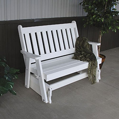 A & L Furniture Poly Traditional English Glider Bench, 4', Turf (Glider Traditional Bench)