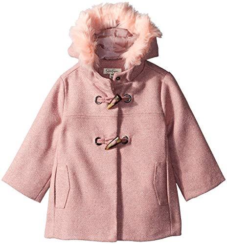 - Jessica Simpson Baby Girls Faux Wool Toggle Coat, Blush, 24M
