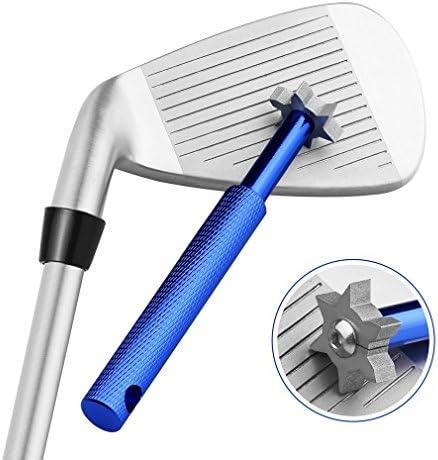 TourGolf-Golf-Schläger-Rillen-Spitzer-Werkzeug und Reiniger mit 6 Schneidern für optimale Ballkontrolle mit Keilen und Schlägern