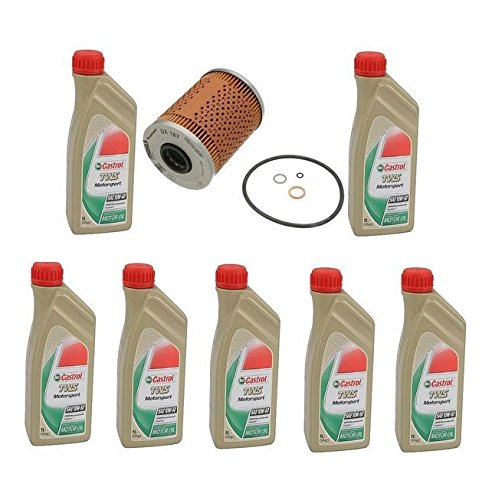 7 Liters High Quality Castrol TWS 10w60 Synthetic Motor Oil & Filter BMW Z3 M3 by Genuine / Mahle