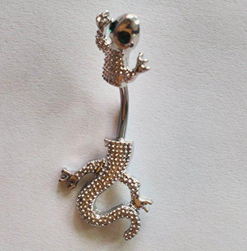 Gem Eyes Chameleon/Lizard/Gecko Belly Rings Navel naval (Chameleon Belly Ring)