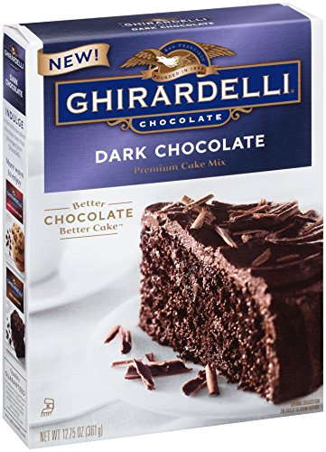 Ghirardelli Dark Chocolate Premium Cake Mix, 12.75-Ounce Boxes (Pack of 12)