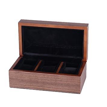 Amazon.com: amcer madera natural caja de reloj/caja de ...