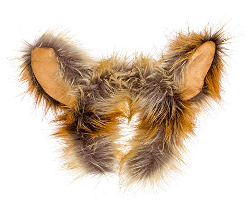 Baby Squirrel Costume (Wildlife Tree Plush Fennec Fox Ears Headband Accessory for Fennec Fox Costume, Cosplay, Pretend Animal Play or Safari Party)