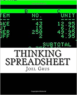 Thinking Spreadsheet: An Opinionated Guide to Problem