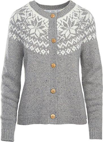 Woolrich Women's Snowfall Valley Snowflake Cardigan Sweater, STONEWARE (Gray), Size (Fair Isle Yoke Cardigan)
