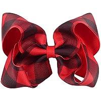plaid bow - checkered bow - buffalo plaid - plaid bow - red and black bow - girls bow - buffalo print bow - large boutique bow - boutique bow - buffalo print bow - buffalo plaid bow