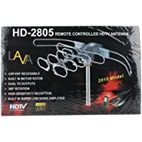 Lava Hd-2805 Outdoor/indoor Rotating Uhf/vhf Hdtv Antenna with Motor Rotor & Remote, Low Noise Amplifier, 2 Tv Outputs, Rotate the Antenna with Remote, No Outdoor Power Needed