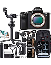 $1599 » Sony a7 II Full-Frame Alpha Mirrorless Digital Camera 24MP a7II Body ILCE-7M2 Filmmaker's Kit with DJI RSC 2 Gimbal 3-Axis Handheld Stabilizer Bundle + Deco Photo Backpack + Software