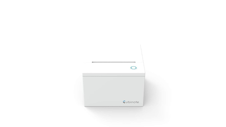 Cubinote KCN18012K Imprimante Post-it Blanc Y compris Un rouleau de Papier Thermo Collant avec Adaptateur UK et Eu