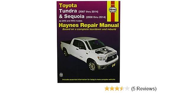 Amazon.com: Haynes Repair Manuals Toyota Tundra 2007 2014 And Sequoia  2008 2014 (92179): Automotive