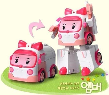 RoboCar POLI ROY AMBER HELLY 4-figures Robots Transformer por Academia Coreana: Amazon.es: Juguetes y juegos