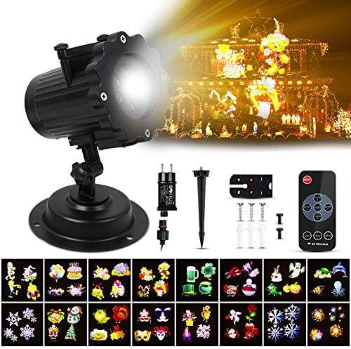 AYSOW Proiettore Luci Natale LED, Lampada per proiettore di luce natalizia, Illuminazione natalizia a LED per Natale, Proiezione per interni per esterni Luci rotanti per feste Lampada paesaggistica
