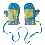 Back From Bali Boys Infant Child Warm Padded Mittens Patchwork With Strings