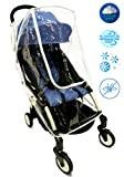 P&P Baby Stroller Rain Cover - Best for Umbrella Strollers. Universal fit | Protection for All Conditions - Snow, Dust, Wind, Mosquito | Transparent Big Window with Ventilation, Premium Quality
