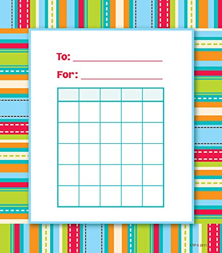 Creative Teaching Press Stripes & Stitches Student Incentive Chart - Incentive Homework Chart