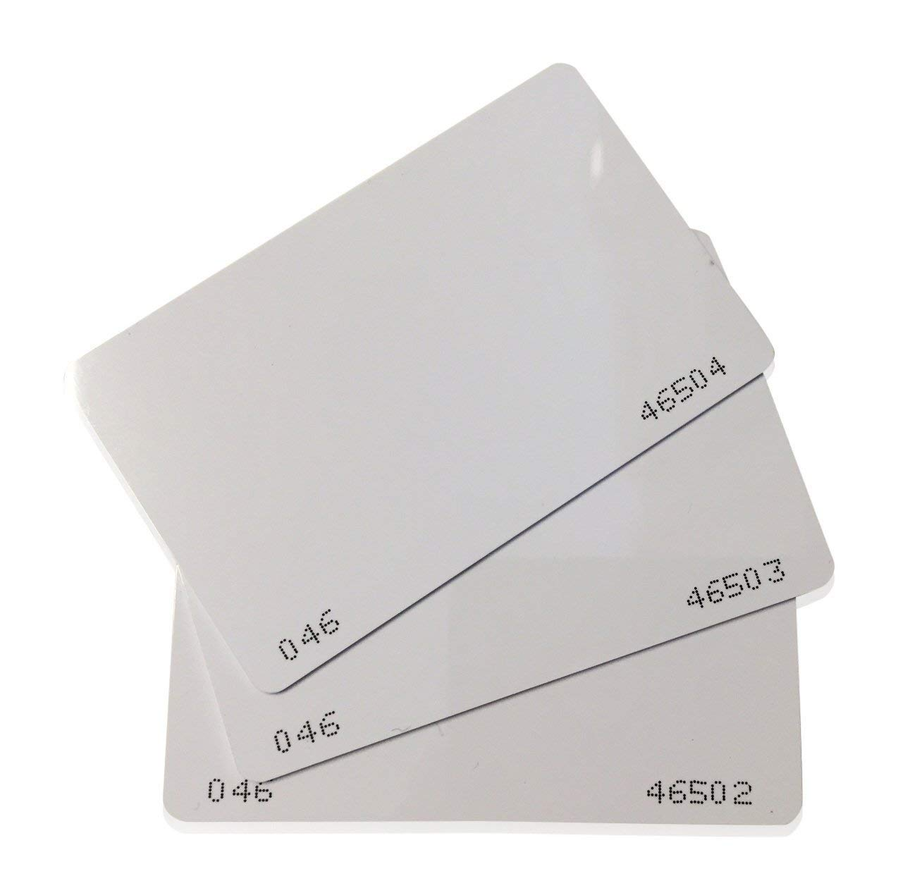 26 Bit Proximity CR80 Cards Weigand Prox Blank Printable Swipe Cards Compatable with ISOProx 1386 1326 H10301 Format Readers. Works with The vast Majority of Access Control Systems JIEWEN