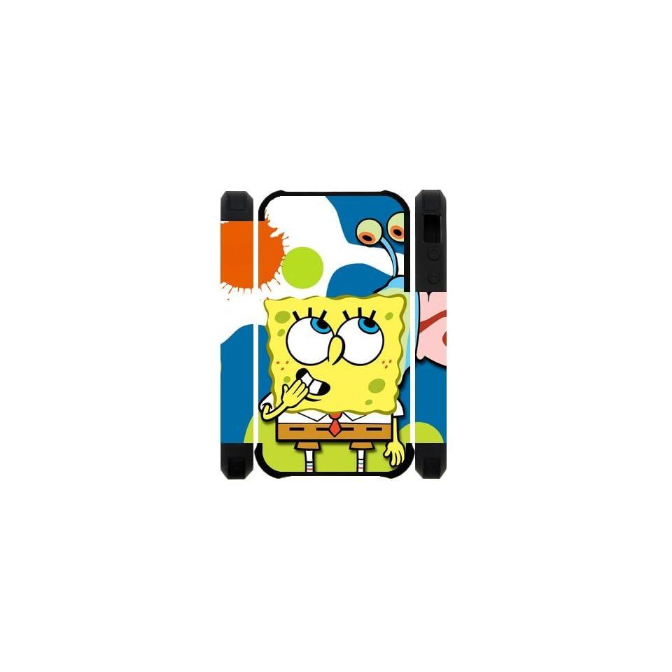 Classic Cartoon SpongeBob Squarepants iPhone 4 4s Case Cover Cell Phones & Accessories