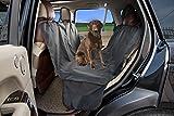 HAPYFOST Waterproof Dog Seat Cover With Bonus Pet Car Seat Protector Machine Washable Barrier - Black