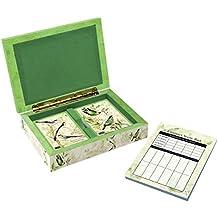 "LANG - Bridge Set - ""Tropical Birds"" - Art by Susan Winget - 2 Sets Bridge-size Cards, Score Pad, Tally Sheets"