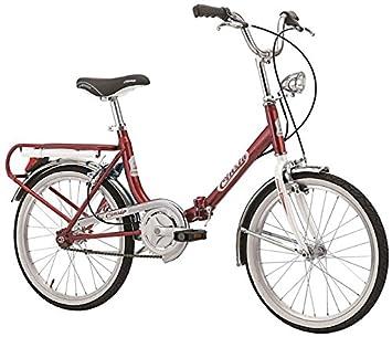 "Cicli Cinzia Firenze - Bicicleta plegable, cuadro de acero, ruedas de 20"","