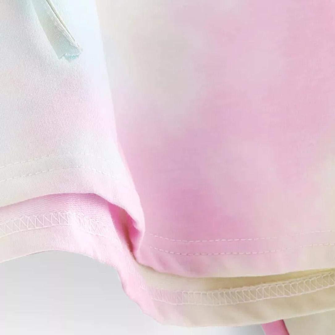 Sudaderas con Capucha Cortas Mujer Tumblr Rainbow Estampado Camiseta de Manga  Larga para Adolescentes Chicas 51117e9acbfb6