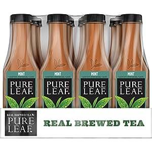 Pure Leaf Iced Tea, Mint, Real Brewed Tea, 18.5 Ounce (Pack of 12)