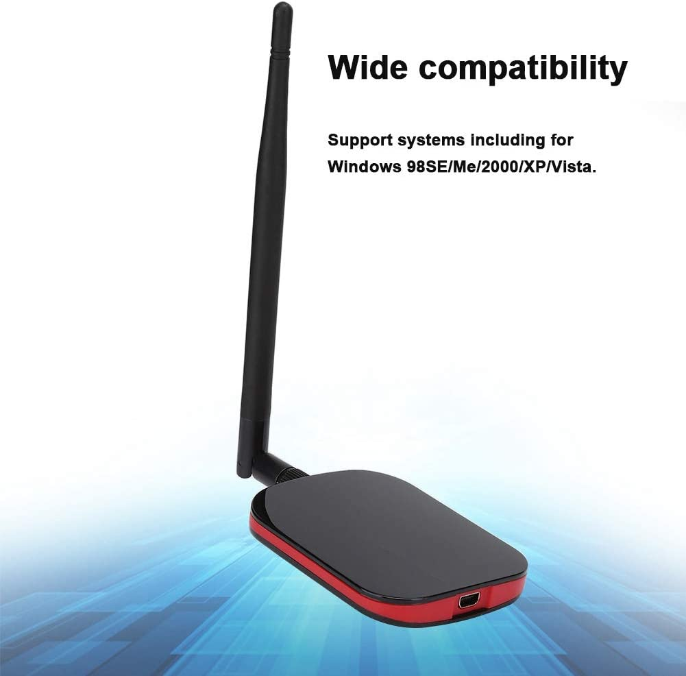 Bewinner 150Mbps Wireless Network Card PIN WPA and WPA2 Security Standards Soft AP//WPS Function Compatible with 64//128 bit WEP Portable Network Card