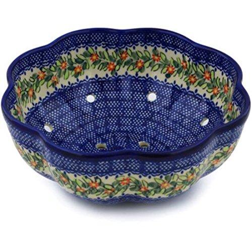 Ceramika Bona H0771H Polish Pottery Ceramic Colander Hand Painted, 9-Inch