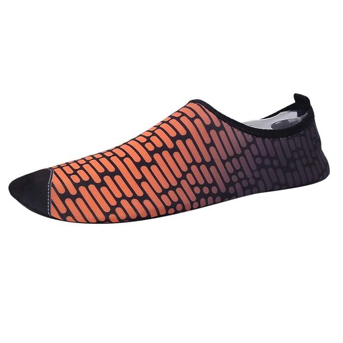 BaZhaHei Mujer Zapatillas Ocio Pareja Aqua Calcetines Descalzo Playa Natación Yoga Zapatos acuáticos Pareja de Verano Antideslizantes Calcetines de Secado ...