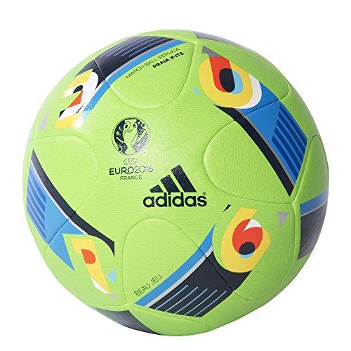 adidas Herren Ball EURO 2016 Praia, Solar Green/Bright Blue/Night Indigo, 5, AC5429