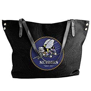 Seabee Women Canvas Shoulder Bag Handbags Tote Bag Casual Shopping Bag from Smiley World