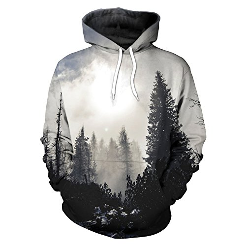 Men Women 3D Print Graphic Hoodie Sweater Loose Hoody Sweatshirt Tops Coat Jacket (B101-153, - Graphic Jacket Print