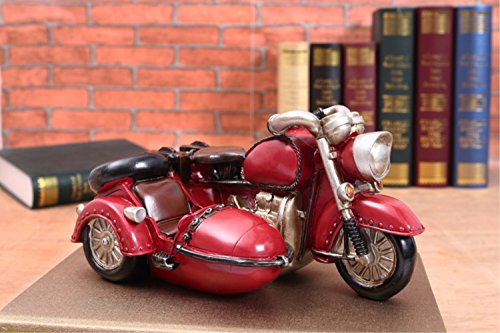 Kawaii Cute Retro three wheeled motorcycle Piggy Bank Resin Personalized Baby Nursery Decor Home Furnishing decoration ()