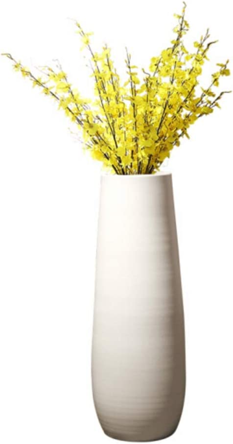 Amazon Com Ceramic Vase European Style Landing Large Vase Modern Creative Living Room Home White Clay Pot Ceramics Vase Decoration 60cm Vase Tall Vase Floor Vase Plant Vase Flower Vase Home Kitchen