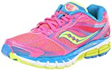 Saucony Women's Guide 8 Running Shoe,Vizi Pink/Citron/Blue,9 M US