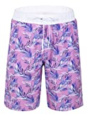 #5: Nonwe Men's Swim Trunks Printed Quick Dry Drawsting with 3 Pockets