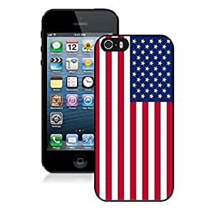American Flag TPU Iphone 5s Case Best Soft Silcon USA Flag Iphone 5 Black Cover