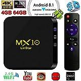 MX10 Android 8.1,4GB/64GB Android TV Box, RK3328 UHD 4K 1080P Bluetooth Smart TV Box Set Top Box TX3 Mini X96 Mini MXQ Pro
