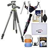 """Vanguard Alta Pro 2 263AP 69"""" Aluminum Tripod with PH-32 Pan Head & Case with Stone Bag + Flash Diffusers + Cleaning Kit"""
