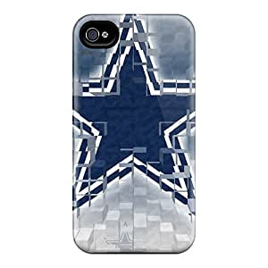 For Iphone 4/4s Premium Tpu Cases Covers Dallas Cowboys Protective Cases