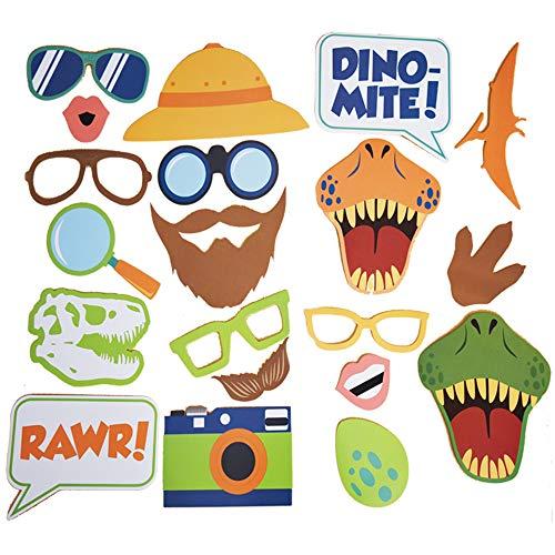 Dinosaur Photo Booth Party Favor Kit Dinosaur Photobooth Props Dinosaur Birthday Party DIY photo booth Fun -
