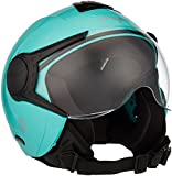 Vega Verve Open Face Motorbike Helmet Sky Blue Colour - Medium Size (58 CM) - The Best Bike Helmets for Women