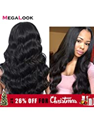 Megalook 360 Lace Frontal Wig with Baby Hair Brazilian Body Wave Human Hair Wigs with Pre