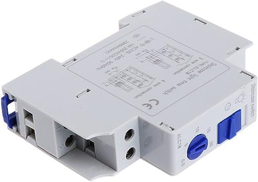MB-LANHUA Interruptor Temporizador Duradero 16A Escalera de riel DIN Interruptor de relé electrónico Temporizador de Tiempo Corredor AF: Amazon.es: Hogar