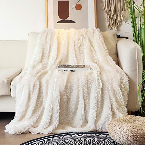 Tuddrom Decorative Extra Soft Faux Fur Blanket